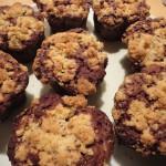 Rhabarber-Schoko-Crumble-Muffins